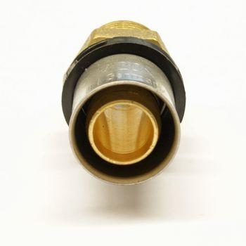 Pipetec Pressfitting Übergang 16x2 mm - 1/2 Zoll AG TH Kontur Verbundrohr – Bild $_i
