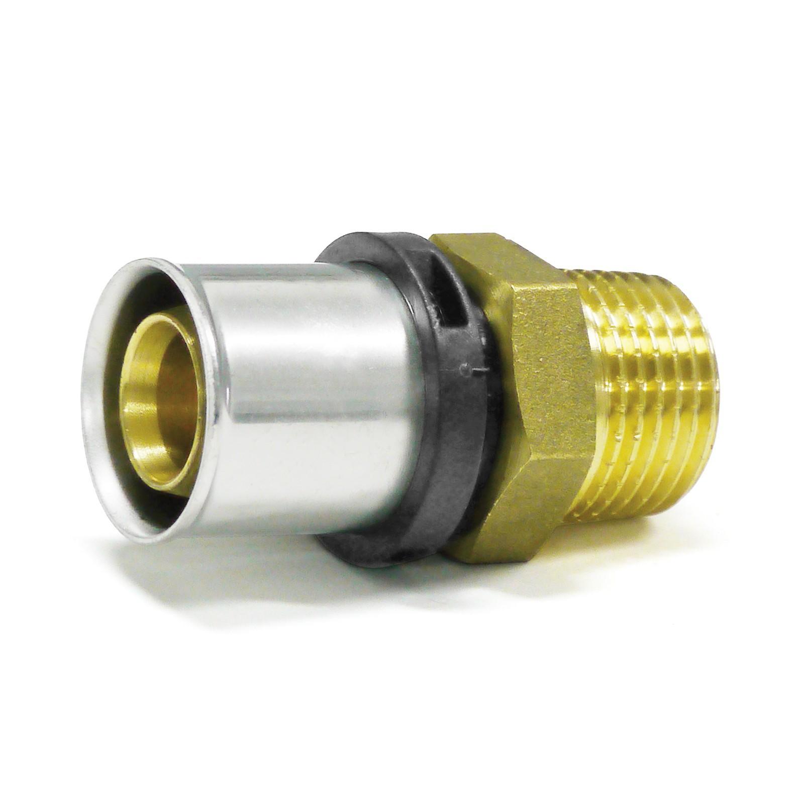 """PEX Pressfitting für Aluverbundrohr 25//2mm Mehrschichtverbundrohr 1//2/"""" 3//4/"""" 1/"""""""