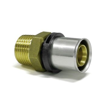 Pressfitting Übergang 20x2 mm - 1/2 Zoll AG TH Kontur Verbundrohr – Bild $_i
