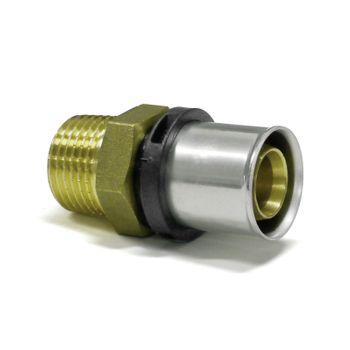 Pressfitting Übergang 26x3 mm - 3/4 Zoll AG TH Kontur Verbundrohr – Bild $_i