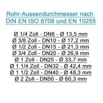 Pressfitting Übergang 26x3 mm - 1 Zoll AG TH Kontur Verbundrohr – Bild $_i