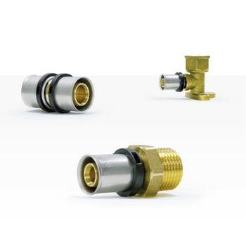 Pressfitting Übergang 32x3 mm - 1 Zoll AG TH Kontur Verbundrohr – Bild $_i