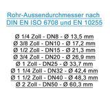 Messing Schlauchtülle Schlauchanschluss 14mm x 1/2 Zoll AG