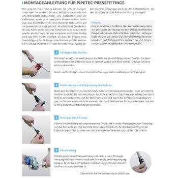 Pressfitting Winkel 32x3 mm 90 Grad für Alu-Verbundrohr – Bild $_i