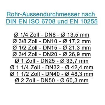 Pressfitting Winkel Übergang 26x3 mm 1 Zoll AG TH Kontur – Bild $_i