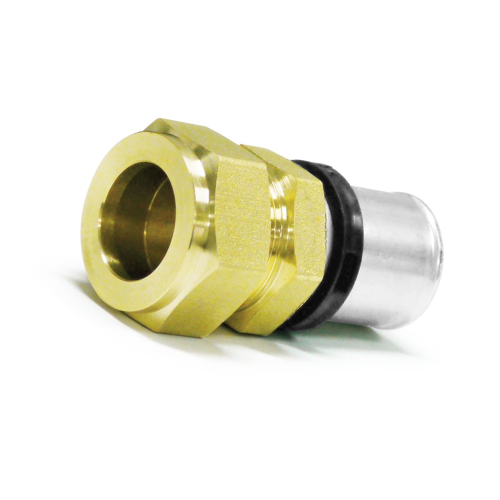 pressfitting Übergang verbundrohr 26x3 auf 28mm kupferrohr th kontur