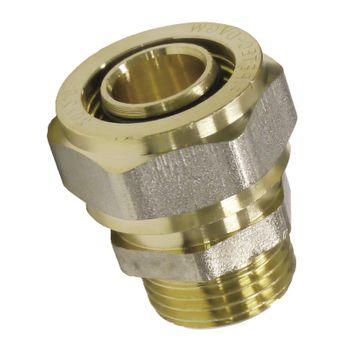 Pipetec Schraubfitting Übergang Kupplung 16x2 mm 1/2 Zoll AG Verbundrohr – Bild $_i