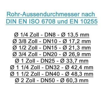 Pipetec Klemmring Schraubfitting Winkel 26x3 mm 90° - 1 Zoll AG Verbundrohr – Bild $_i