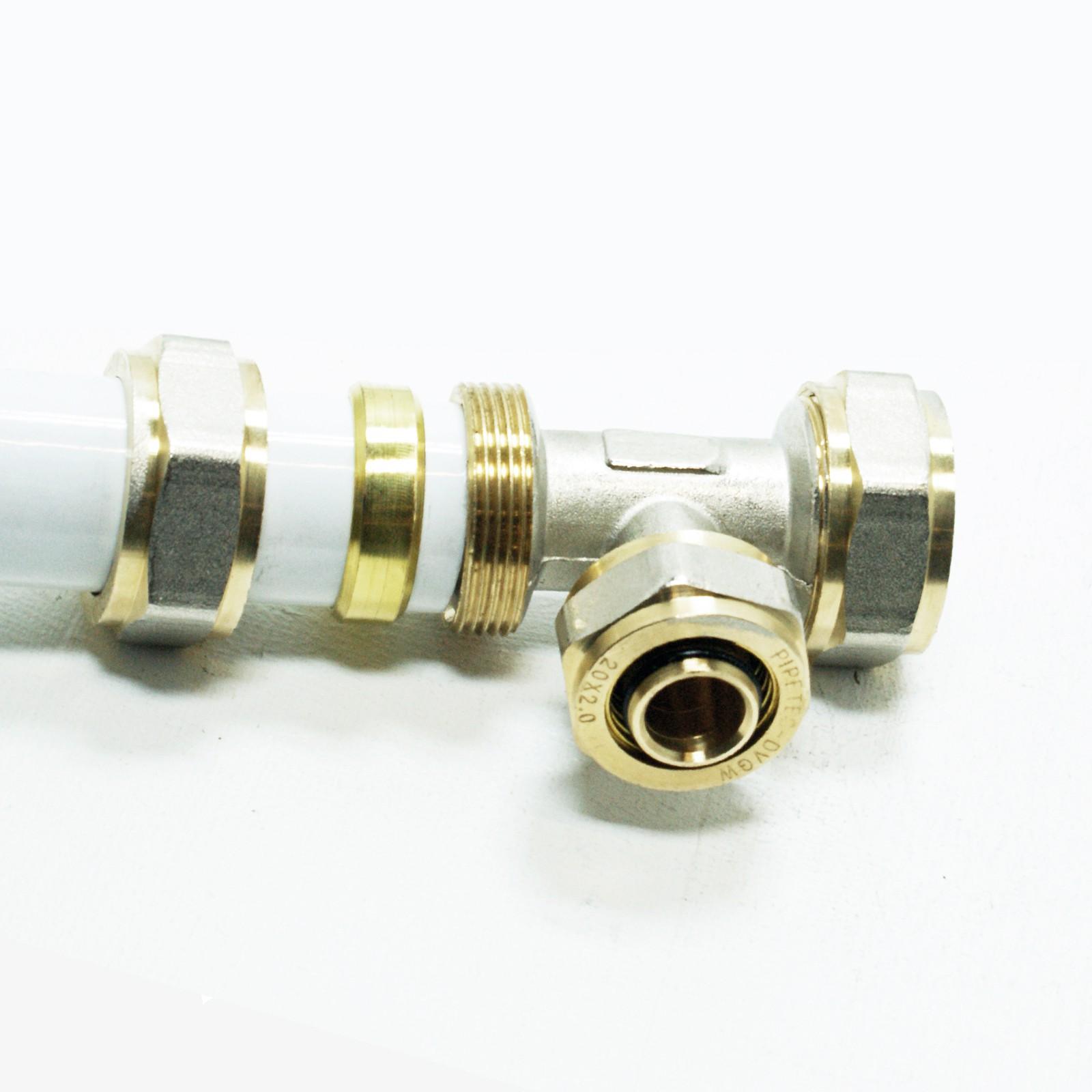 T-Stück Klemmringverschraubung Schraubfitting Pipetec Mittelabgang reduziert