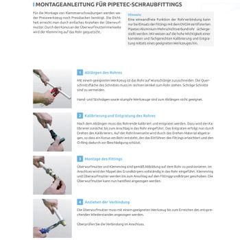 Klemmring Schraubfitting T-Stück reduziert 26x26x16 mm Verbundrohr – Bild $_i