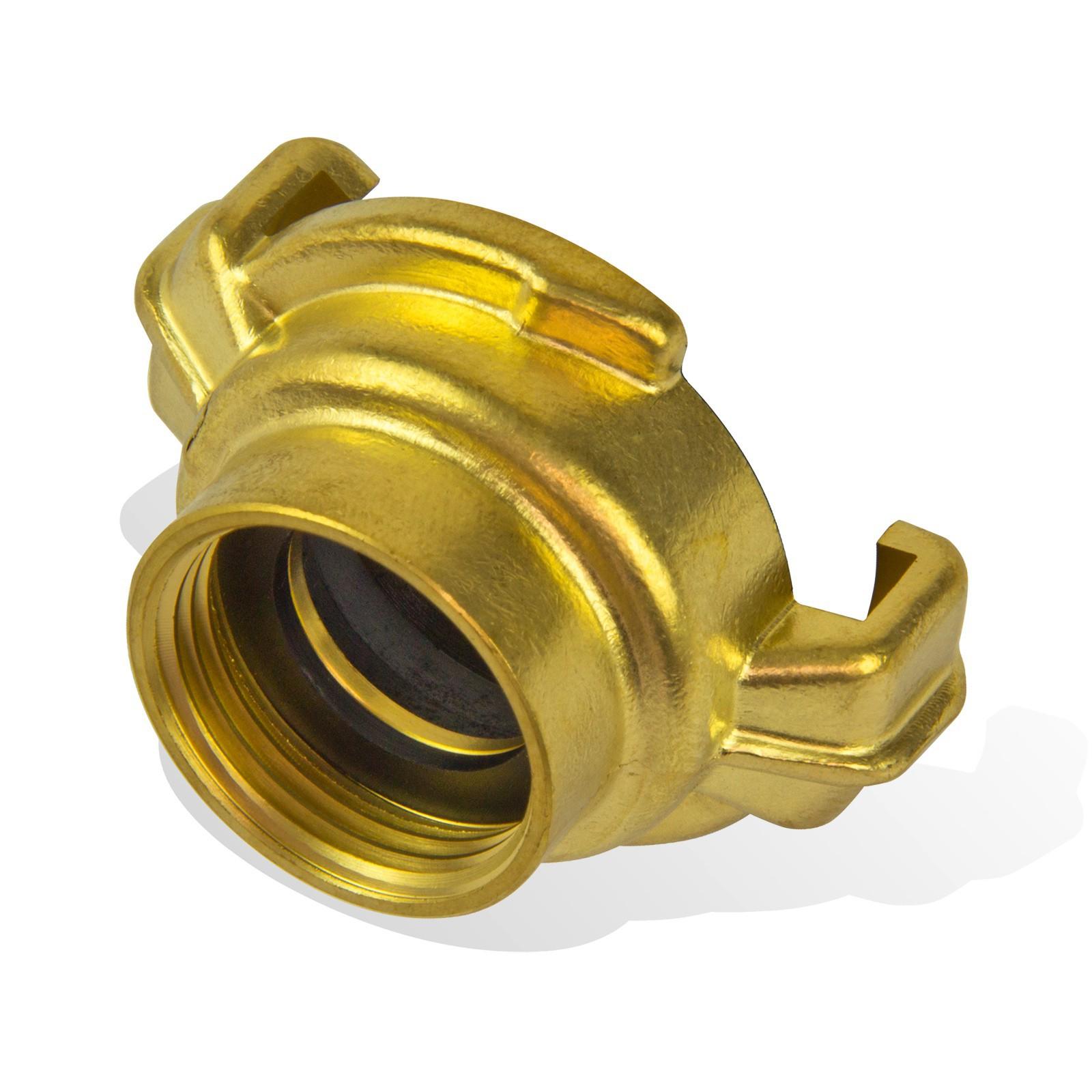 Messing-Kupplung 1 1//4 Zoll AG Schnellkupplung Schlauchkupplung Geka Luftschlauch Wasserschlauch Gartenschlauch