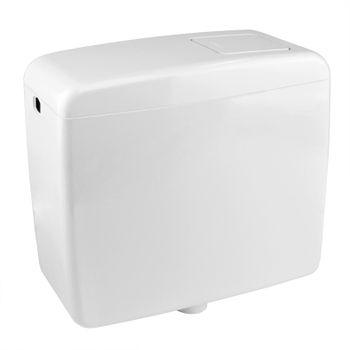 WC Aufputz-Spülkasten 6-9 Liter einstellbar weiss mit Zubehör – Bild $_i