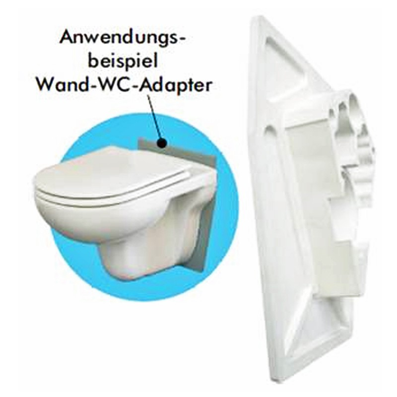 fliz wand wc adapter montageadapter toilette klo. Black Bedroom Furniture Sets. Home Design Ideas