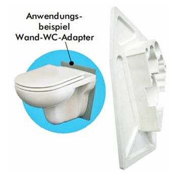 FLIZ Wand-WC Adapter / Montageadapter Toilette Klo – Bild $_i