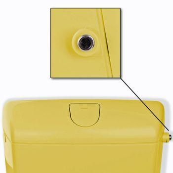 Wisa 1070 Toiletten Aufputz Spülkasten tiefhängend Curry Gelb – Bild $_i
