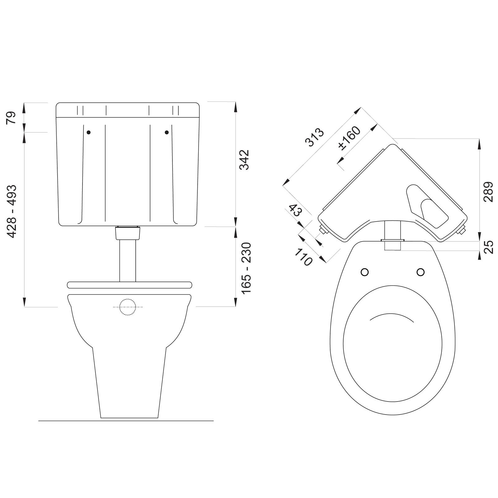 ✅ Wisa 770 Aufputz Eckspülkasten Spülkasten Toilettenspülkasten Spülung 6-9 L