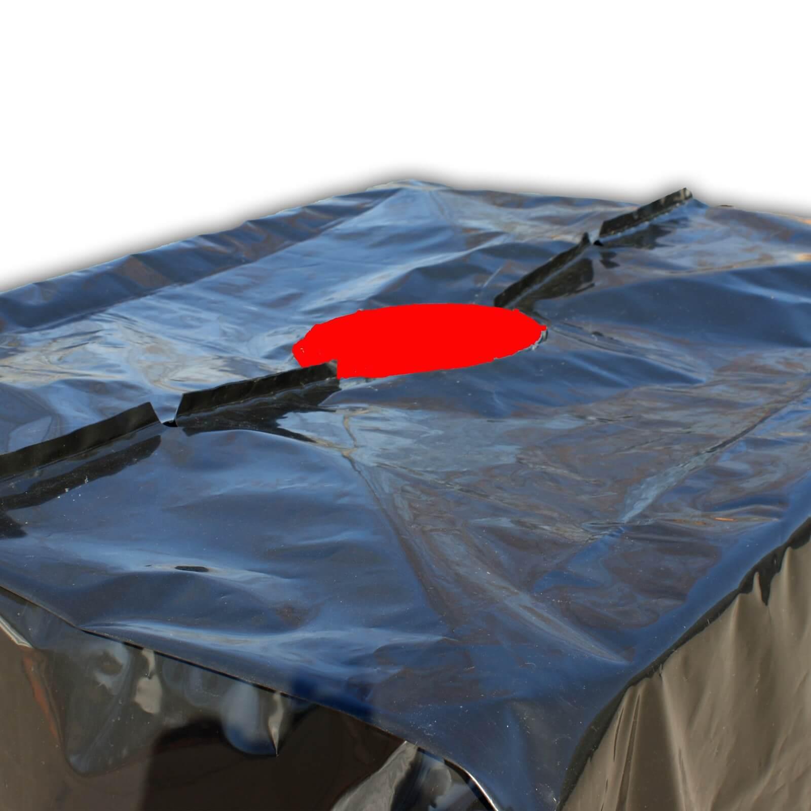 ibc abdeckplane schutz h lle plane haube folie regen wasser tank 1000l container ebay. Black Bedroom Furniture Sets. Home Design Ideas