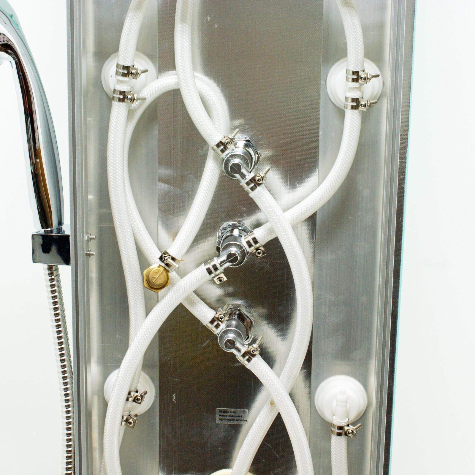 duschpaneel karibik weiss duschset duschs ule. Black Bedroom Furniture Sets. Home Design Ideas