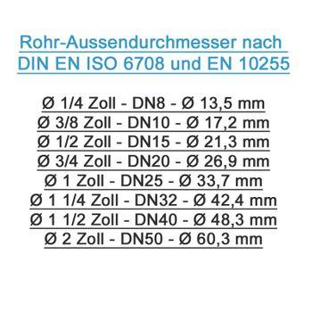 Messing Schlauchtülle Schlauchstutzen 3/8 Zoll IG x 10mm – Bild $_i