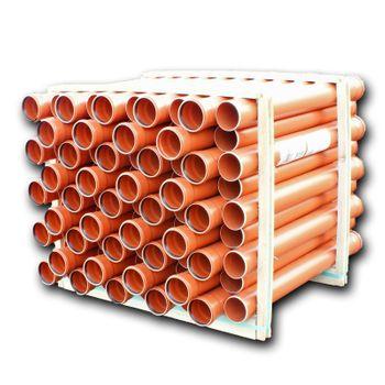 40x KG Rohr DN160 1000mm 1m Abwasserrohr 150mm Kanalrohr orange – Bild $_i