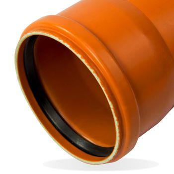 25x KG Rohr DN200 2000mm 2m Abwasserrohr Kanalrohr orange – Bild $_i
