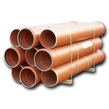 16x KG Rohr DN250 1000mm 1m Abwasserrohr Kanalrohr orange – Bild $_i
