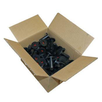 100x Schallschutzdübel 12mm Gummidübel mit Bund Kragen – Bild $_i