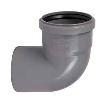 HT Bogen DN90/87° Rohr 90mm Kunststoff Abwasserrohr grau – Bild $_i