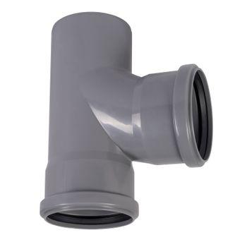 HT Abzweig DN90/90/87° HTEA Abflussrohr Abwasserrohr – Bild $_i