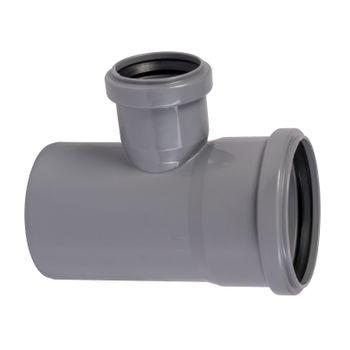 HT Abzweig DN90/50/87° HTEA Abflussrohr Abwasserrohr – Bild $_i