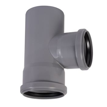 HT Abzweig DN90/75/87° HTEA Abflussrohr Abwasserrohr – Bild $_i