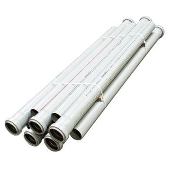 10x HT Rohr DN40 x 1000mm Abflussrohr Abwasserrohr grau – Bild $_i