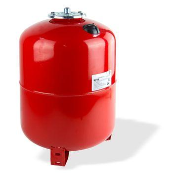 Ausdehnungsgefäß 50L Ausgleichsbehälter rot stehend Heizung