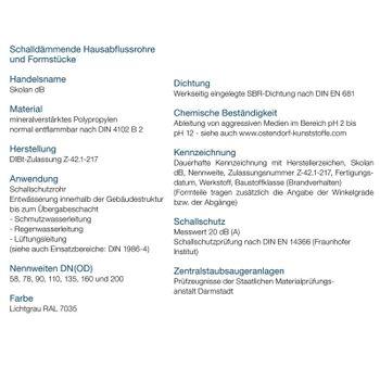Skolan dB Safe Abzweig DN78/78/45° schallgedämmtes Abwasserrohr – Bild $_i