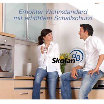 Skolan dB Safe Doppel-Abzweig DN110/110/110/87° schallgedämmtes Abwasserrohr – Bild $_i