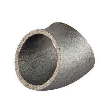 Schweissbogen 3 Zoll 88,9mm 45° kurz DN80 Rohrbogen schwarz – Bild $_i