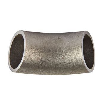 Schweissbogen 1 1/2 Zoll 48,3mm 45° lang DN40 Rohrbogen schwarz – Bild $_i