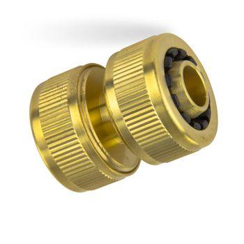 Messing Reparaturkupplung 1/2 Zoll 13mm Schlauchverbinder – Bild $_i