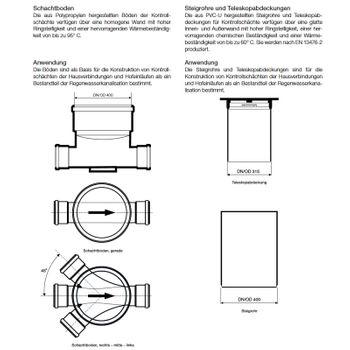 Schachtabdeckung DN 400 A 15 1,5 to Kunststoff Deckel begehbar Schachtdeckel – Bild $_i