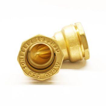 Messing PE Rohr Verschraubung Winkel 20/25/32/40/50/63 mm – Bild $_i