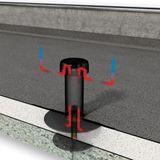 Flachdach Entspannungslüfter Dachraumbelüfter DN 100 PVC-Anschluss