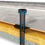 Flachdach Raumentlüfter Abwasserbelüfter DN 70 PVC-Anschluss