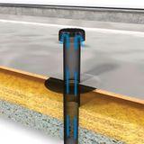 Flachdach Raumentlüfter Abwasserbelüfter DN 70 Bitumen-Anschluss