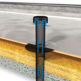 Flachdach Raumentlüfter Abwasserbelüfter DN 100 Bitumen-Anschluss