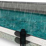 Flachdach Dachablauf Aufstockelement Lüfterunterteil DN 125 PVC-Anschluss