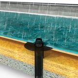 Flachdach Dachablauf Aufstockelement Lüfterunterteil DN 125 Bitumen-Anschluss