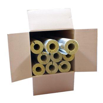 Karton 9m Steinwolle Rohrschale alukaschiert 42x40 mm – Bild $_i