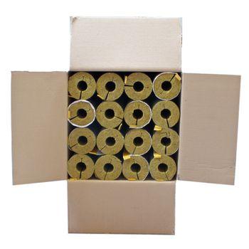 Karton 16m Steinwolle Rohrschale alukaschiert 28x34 mm 100% EnEV – Bild $_i