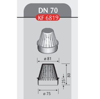 Klöber Flavent Flachdach Laubfang DN 70 Hart PVC für Dachablauf – Bild $_i