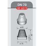 Flachdach Laubfang DN 70 Hart PVC für Dachablauf